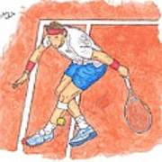 Rafa On Clay Art Print by Steven White