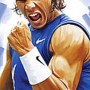 Rafael Nadal Artwork Art Print