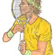 Rafael Nadal Art Print by Steven White