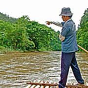 Rafting Guide On Mae Thang River Near Chiang Mai-thailand Art Print