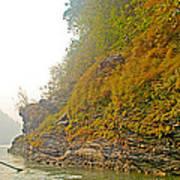 Rafting Near Shore In The Seti River-nepal   Art Print