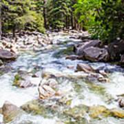 Rageing River Below Falls Art Print