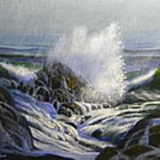 Raging Surf Art Print by Frank Wilson