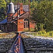 Rail Reflection At The Train Station Art Print