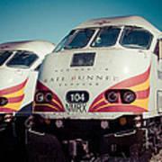 Rail Runner Twins Art Print