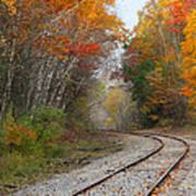 Rail Through The Colors Art Print