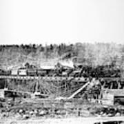 Railroad Bridge, 1858 Art Print