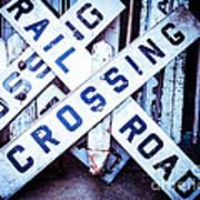 Railroad Crossings Art Print