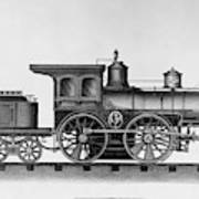 Railroad Engine, C1874 Art Print