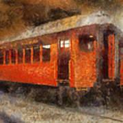 Railroad Gary Flyer Photo Art 02 Art Print
