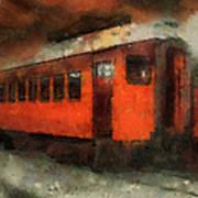 Railroad Gary Flyer Photo Art 03 Art Print