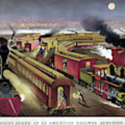 Railroad Junction, C1876 Art Print