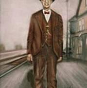 Railroad Man Art Print
