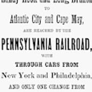 Railroad Resorts, 1884 Art Print