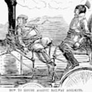 Railroad Safety, 1853 Art Print