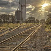 Railroad Sunrise Art Print