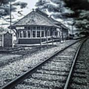 Railroad Ties Marlette Michigan Art Print