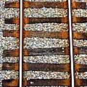 Railroad Track With Gravel 2 Art Print
