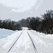 Railroad Tracks Art Print