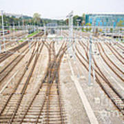 Railroad Train Yard Art Print