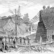 Railroad Washout, 1885 Art Print