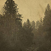 Rails In The Rogue Valley - Vintage Effect Art Print