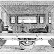 Railway Carriage, 1864 Art Print