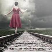 Railway Tracks Art Print by Joana Kruse