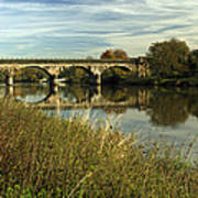Railway Viaduct At Waterside - Stapenhill Art Print