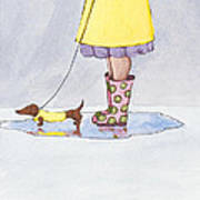 Rain Boots Art Print by Christy Beckwith