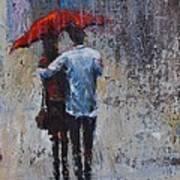 Rain Embrace Art Print