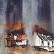 Rain Fall On Dooagh Achil Art Print