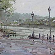Rain In Lewiston Waterfront Art Print