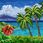 Rain In The Islands Art Print