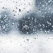 Rain In Winter Art Print