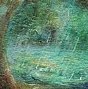 Rain On The Pond Art Print