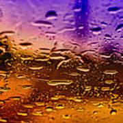Rain On Windshield Print by J Riley Johnson