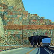 Rain Rocks Rock Shed Art Print