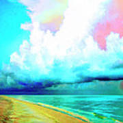 Rain Squall Na Pali Coast Art Print