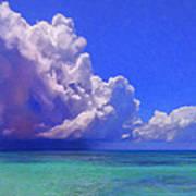 Rain Squall On The Horizon Art Print