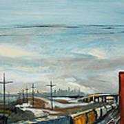 Rain Train Art Print