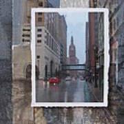 Rain Water Street W City Hall Art Print