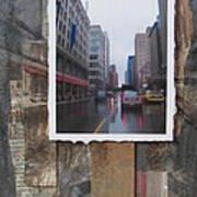 Rain Wisconcin Ave Tall View Art Print