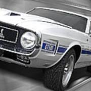 Rain Won't Spoil My Fun - 1969 Shelby Gt500 Mustang Art Print