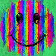 Rainbow Abstract Smiley Face Art Print