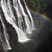 Rainbow At Victoria Falls Art Print