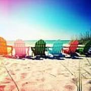 Rainbow Beach Photography Light Leaks1 Art Print