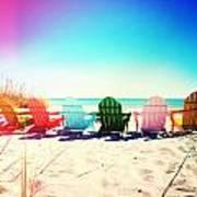 Rainbow Beach Photography Light Leaks2 Art Print