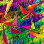 Rainbow Bliss - Pin Wheels - Painterly - Abstract - V Art Print