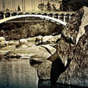 Rainbow Bridge In Folsom Ca Art Print